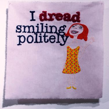 Lindsay Joy, Dread, Anxiety Series, embroidery on linen, 2010