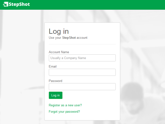 StepShot Login