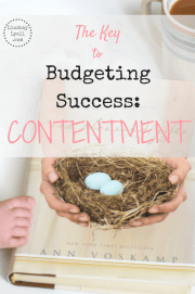 The key to a successful budget may not be what you think. Certainly, cutting back on your spending, picking up side jobs, and saving money are important, but there is another component that is vital for your success: Contentment. Budgeting and sacrificing can really start to wear you down and your attitude is everything. Click the link to read about our story.