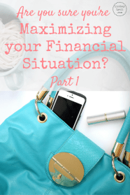 You may feel like you're doing all you can to minimize expenses and increase income, but are you really? Here are some suggestions to improve your financial situation that you might not have considered. Click the picture to read Part 1 of this two part series.