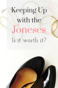 Keeping up with the Joneses: Is it worth it?