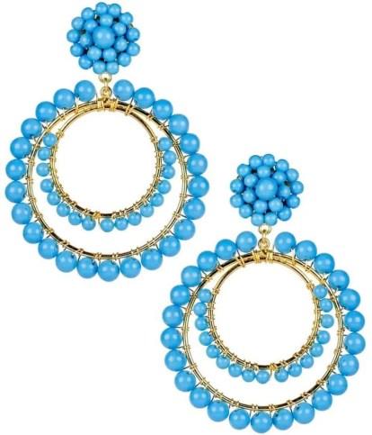 beaded statement earrings for summer