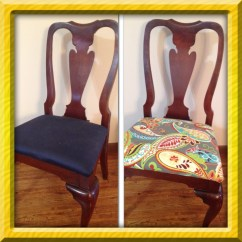 Diy Reupholster Living Room Chair Square Table How To Dining Chairs Intentional For