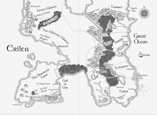 Map of Erilea (Throne of Glass)
