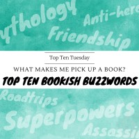 What Makes Me Pick Up A Book? My Top Ten Bookish Buzzwords {Top Ten Tuesday}