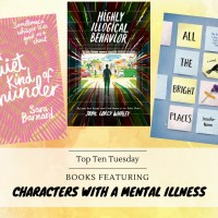 Books Featuring Characters With A Mental Illness {Top Ten Tuesday}