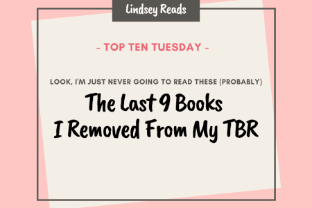 20200512 Last 9 Books I Removed From My TBR