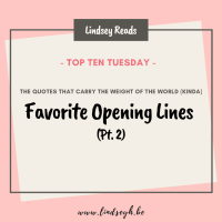 Favorite Opening Lines (Pt. 2) {Top Ten Tuesday}