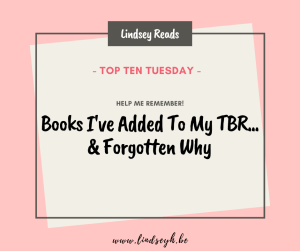 20200609 Books I've Added To My TBR & Forgotten Why