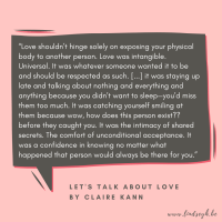 Let's Talk About Love by Claire Kann {Quote It Wednesday}
