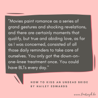 How To Kiss an Undead Bride by Hailey Edwards {Quote It Wednesday}