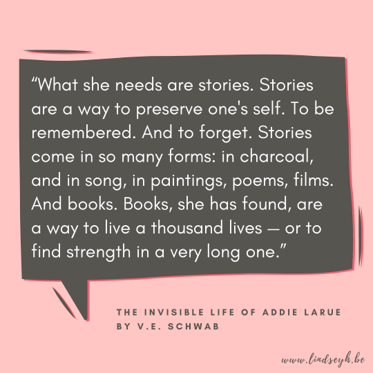 The Invisible Life of Addie LaRue by V.E. Schwab Quote