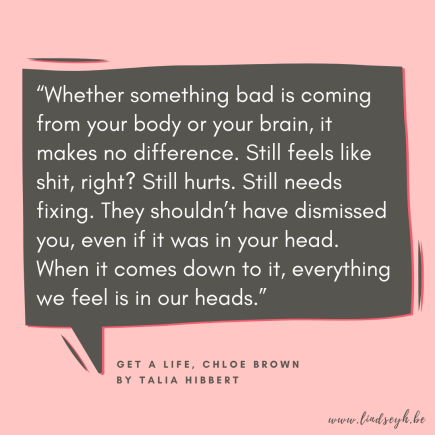 Get A Life, Chloe Brown by Talia Hibbert Quote