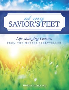 At My Savior's Feet - A HelloMornings Bible Study