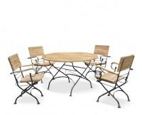 Garden Bistro Table and 4 Chairs - Round Garden Bistro ...