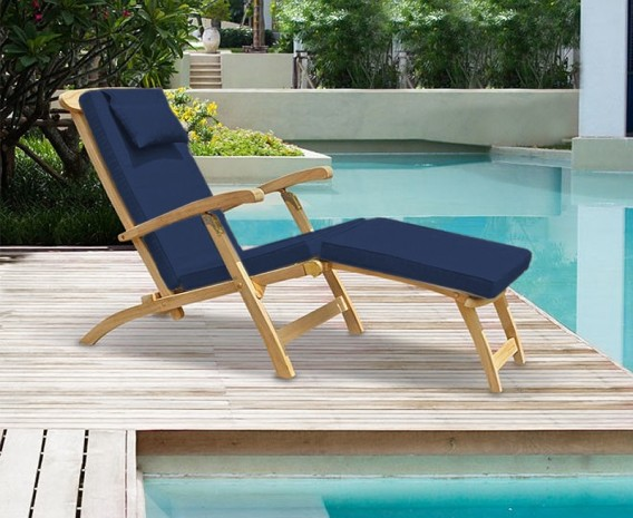 teak steamer chair folding at lowes halo with free cushion lindsey brass jpg