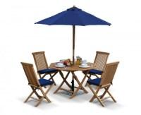 Suffolk Octagonal Folding Garden Table and Chair Set ...