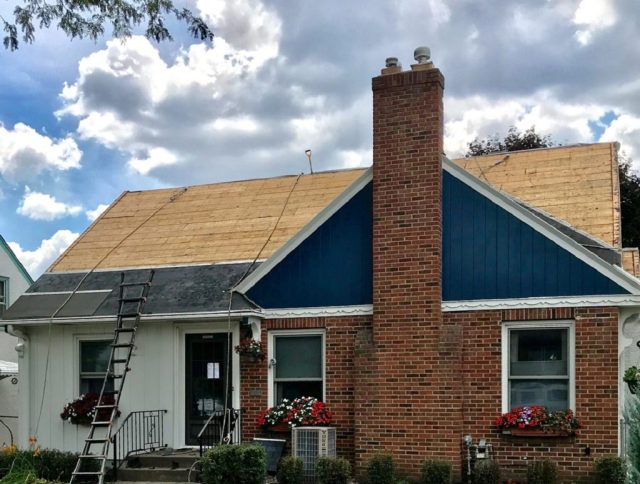 Torn-off roof