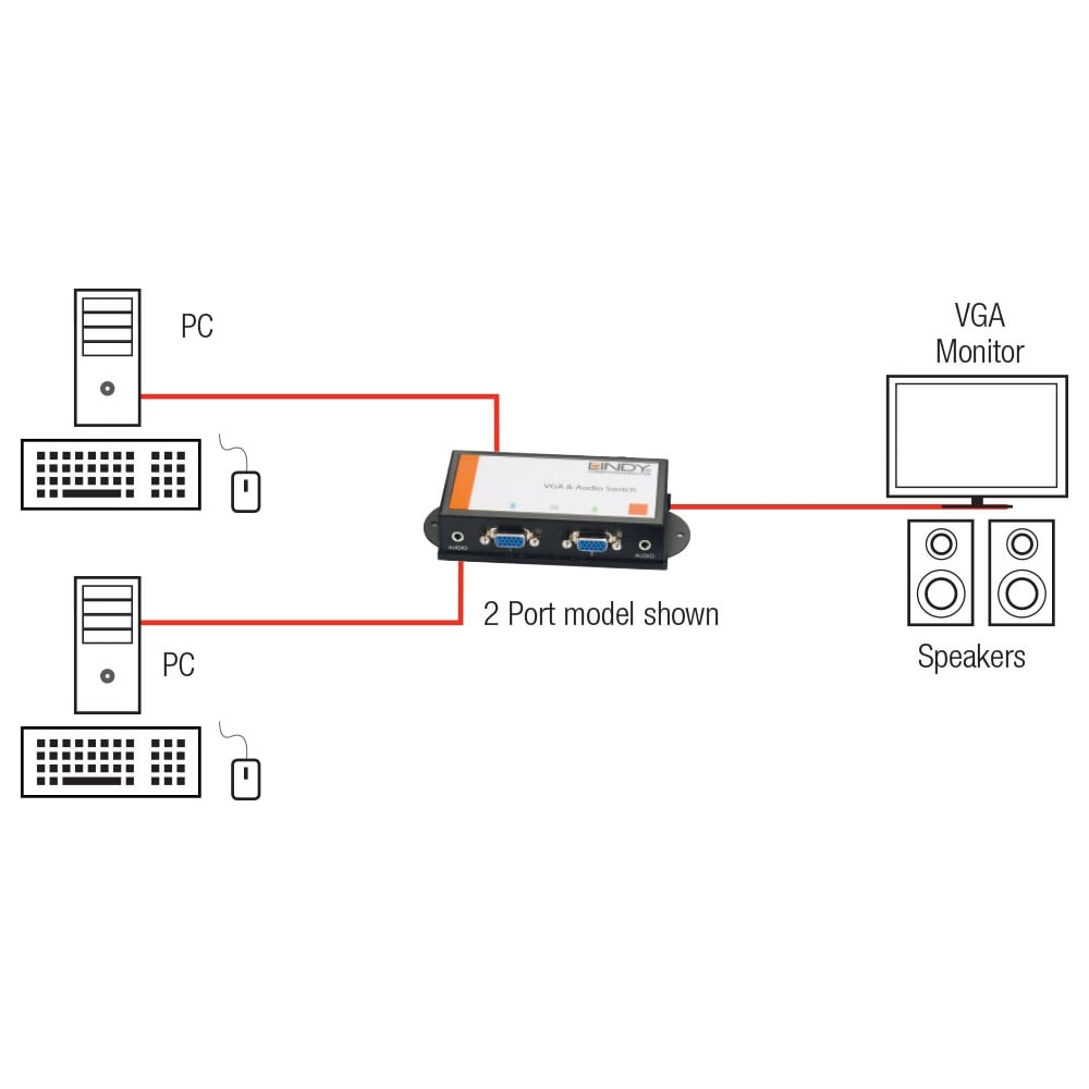 hight resolution of 2 port vga audio switch