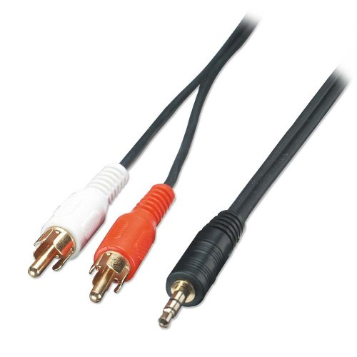 small resolution of 2m premium audio cable 3 5mm stereo jack male to 2 x phono male stereo jack adapter wire stereo jack wire