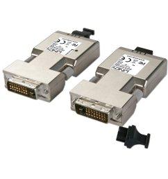 500m fibre optic dvi d dual link extender  [ 1000 x 1000 Pixel ]