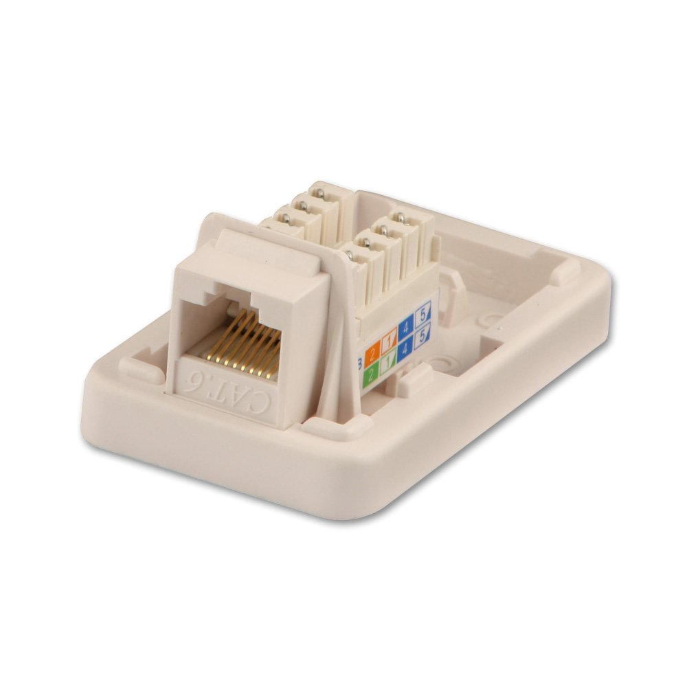 Network Tap Wiring Diagram Cat6 Single Wall Mount Box Utp Rj 45 T568a T568b From