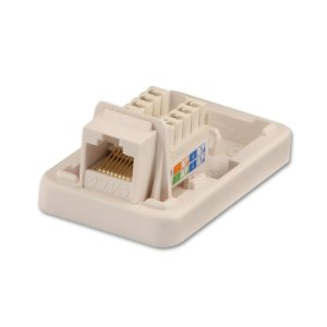 CAT6 Single Wall Mount Box UTP, RJ45, T568AT568B  from