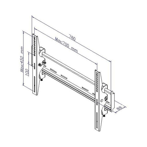 Heavy Duty LCD, LED & Plasma TV Wall Bracket Mount for up
