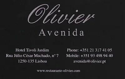Restaurant Olivier, Lisboa