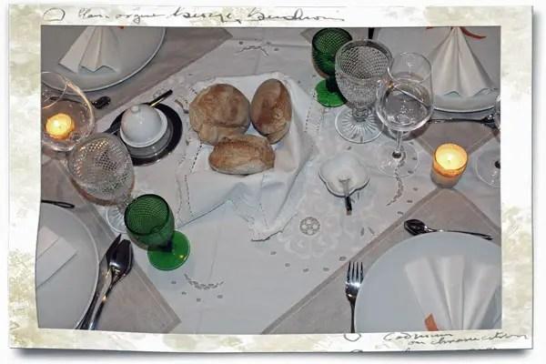 Table pour mon menu gastronomique