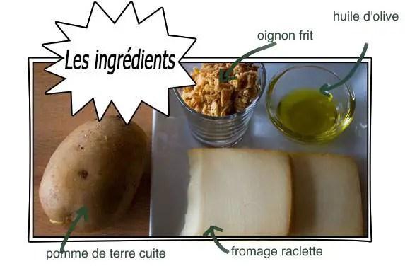 ingrédients-pomme de terre gratinée