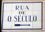 Plaque Rua de O Século, Bairro Alto