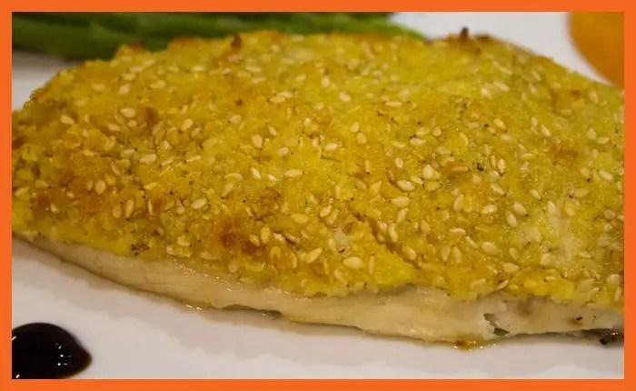 Filet de dorade en crumble croustillant