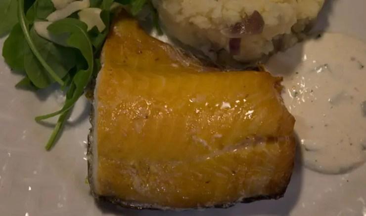 Filet de haddock poché sauce ciboulette