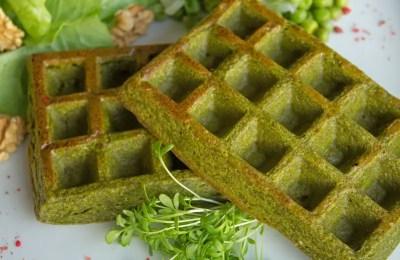 Gaufres aux légumes verts