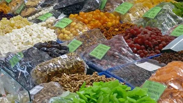Marché Naschmarkt, Wien - fruits secs 2