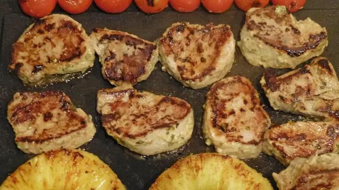 Plancha de Filet mignon ananas et tomates cerises