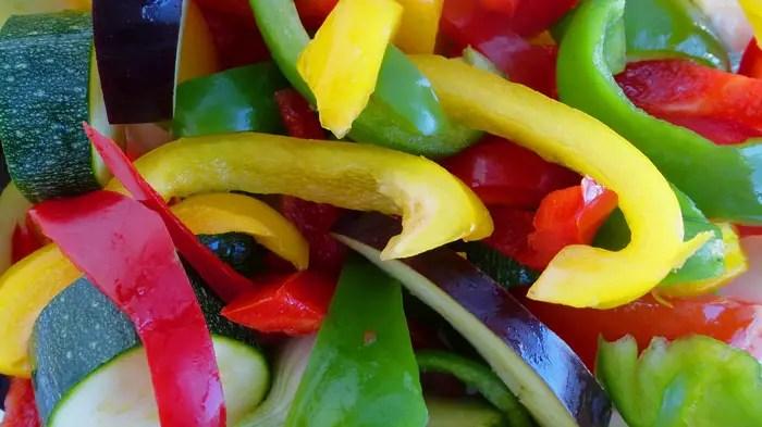 Les légumes de la ratatouille