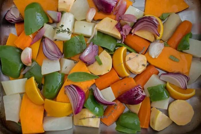 Légumes d'hiver à rôtir au four