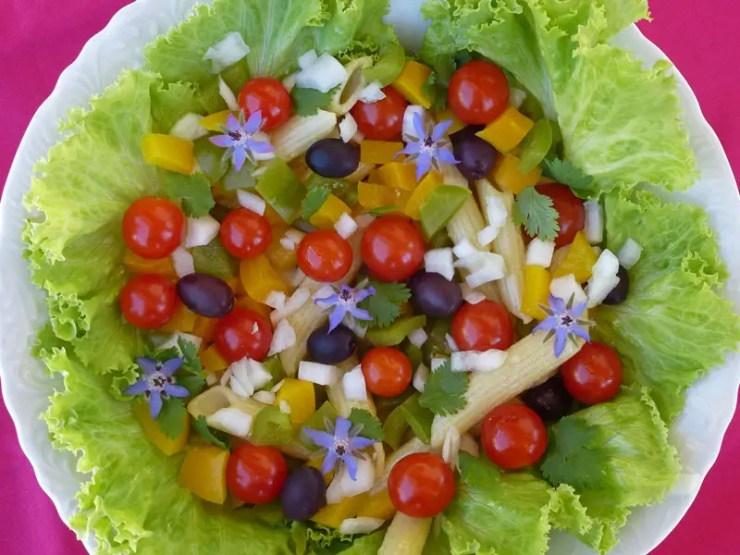 Salade d'été végétarienne en couleurs