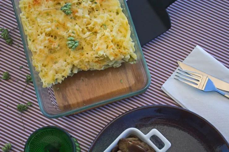Gratin végétarien macaroni et poireaux