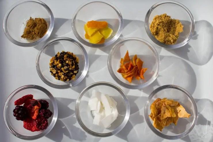 Ingrédients pour infusions à croquer