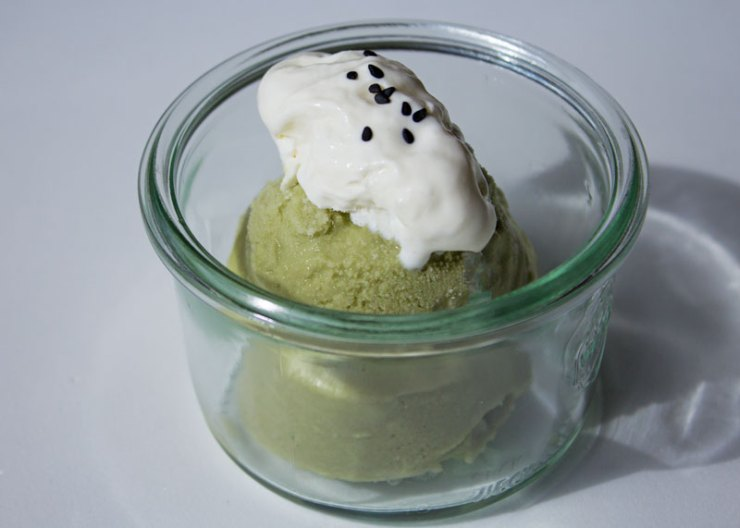 Crème glacée Noix de coco et matcha