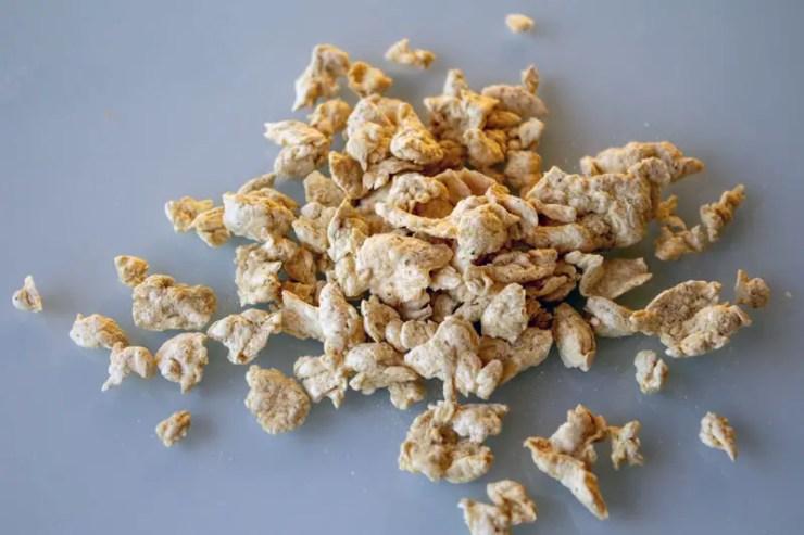 Granulés de protéines de soja texturées