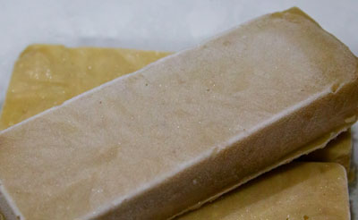 Barres de pâte de châtaignes congelées