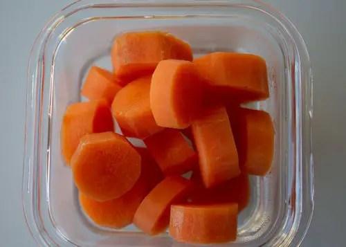 Petites rondelles de carottes