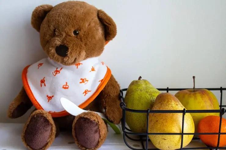 Nounours et les fruits pour bébé