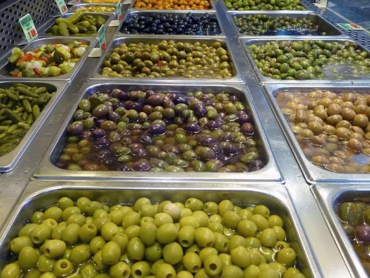 Aceitunas du marché Anton Martin, Madrid