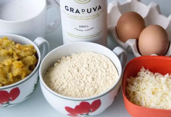 Ingrédients pour gaufres de patate douce