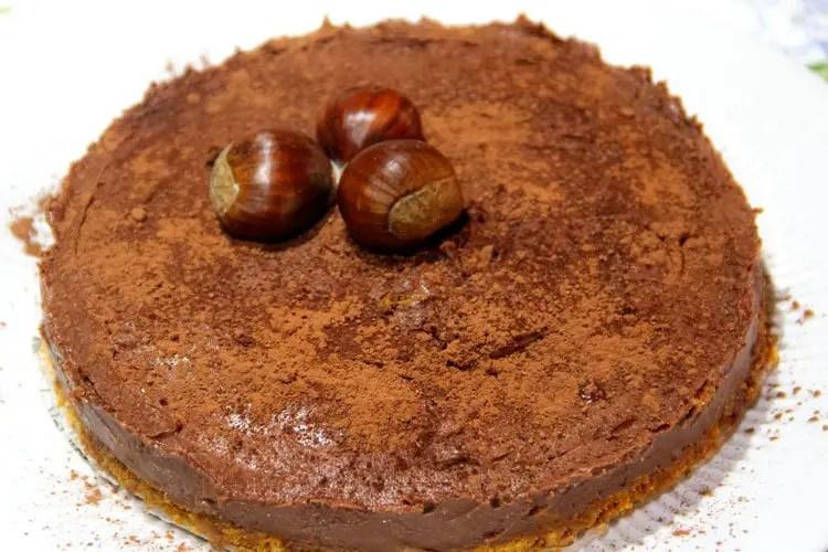 Cheese-cake au chocolat et châtaignes